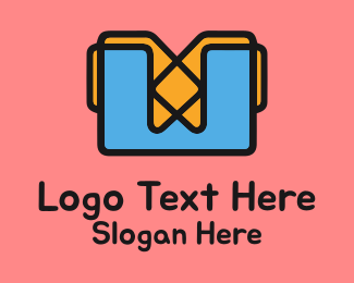 Construct - Construction Folder Letter W logo design