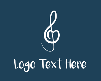 Note - Musical Heart logo design