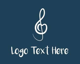 Piano - Musical Heart logo design