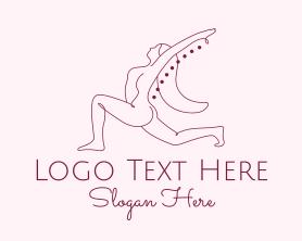 Chiropractic - Pink Fitness Yoga Exercise logo design