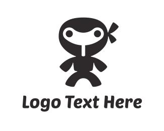 Mechanical - Little Wind-up Ninja logo design