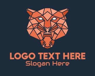 Geometrical - Geometric Bear Head logo design