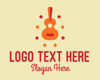 String Instrument - Acoustic Guitar Star  logo design