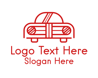 Automotive - Retro Car Outline logo design