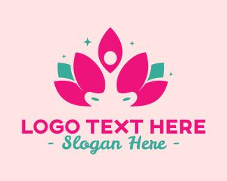 Relaxing - Lotus Yoga logo design