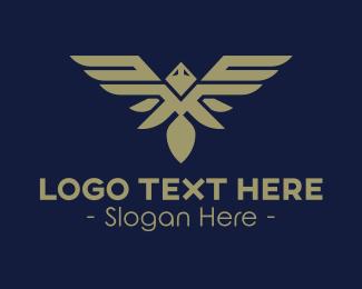 Pilot - Silver Bird Emblem logo design