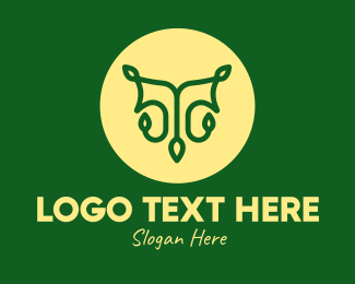 Green And Yellow - Tree Vine Letter T logo design
