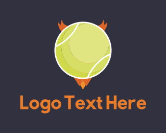Tennis Club - Evil Ball logo design