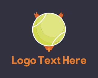 Tennis - Evil Ball logo design
