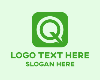 Salad Bar - Green Q Square logo design