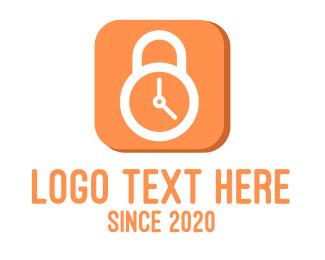Clock - Security Alarm Clock logo design