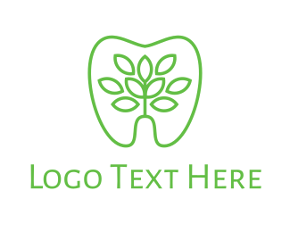 Molar - Green Dentistry logo design