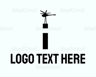 Chopper - Cargo Helicopter logo design