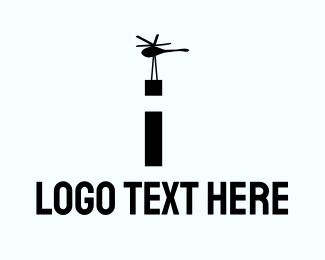 Lift - Cargo Helicopter logo design