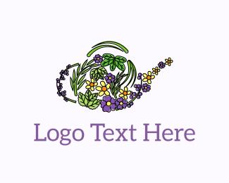 Floral - Floral Teapot  logo design