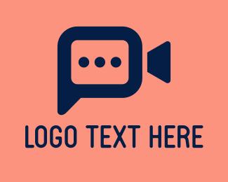 Video - Digital Video Chat  logo design