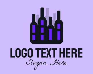 Alcohol Delivery - Black Alcohol Cityscape logo design