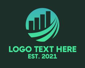 Business - Database Bar Graph logo design