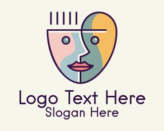 Cup - Art Face Cup logo design