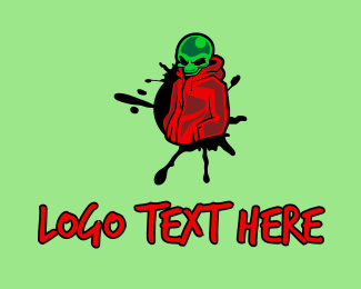 Martian - Street Graffiti Alien logo design