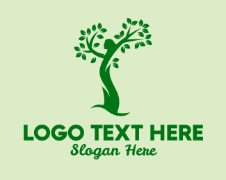 Earth - Earth Tree Woman logo design