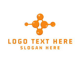 Molecule - Orange Molecule logo design