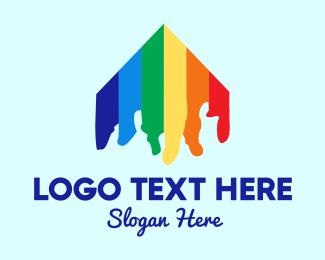 Pride - Rainbow House logo design