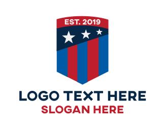 Sport Flag Shield Logo