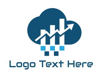 Economy - Financial Cloud logo design