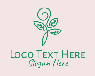 Ornate - Organic Green Sprout Leaves logo design
