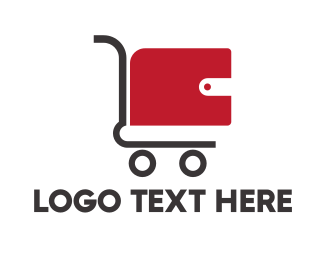 Sale - Wallet Cart logo design