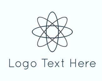 Science - Atom Lines logo design