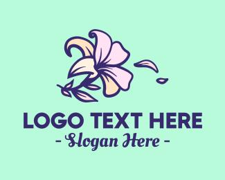 Flower Arrangement - Lily Flower logo design