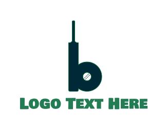 Cricket - Cricket Bat & Ball logo design