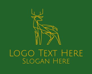 Hunt - Geometric Deer logo design