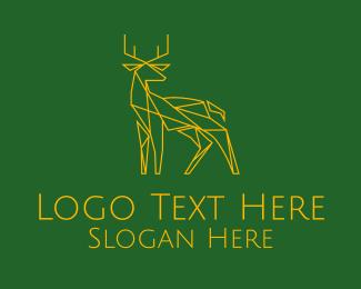 Landscaping - Minimal Deer logo design