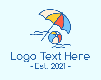 Sunbathing - Summer Beach Resort logo design