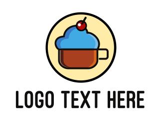 Frappe - Cloud Coffee Mug logo design