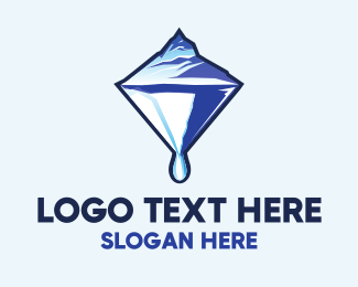 Melting - Glacier Diamond logo design