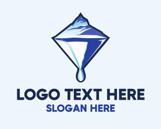 Melting - Glacier Diamond logo design