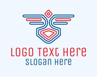 Corps - Bird Wings Emblem logo design