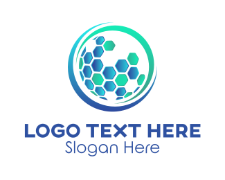 Business - Modern Hexagon Globe  logo design