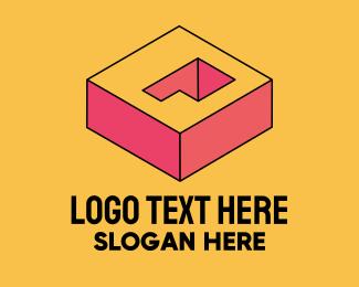 Arcade - 3D Pixel Letter Q logo design