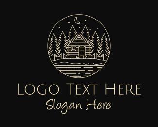 Residence - Cabin Forest  logo design