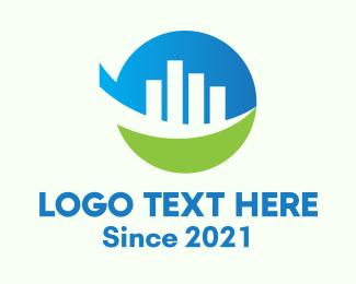 Investment - Modern Investment Company logo design