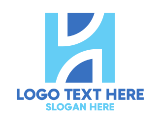 Blue Architectural H Logo