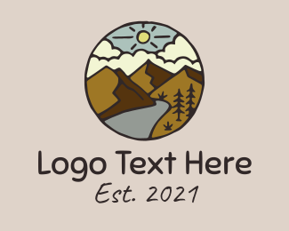 Provincial - Mountain Range Road logo design