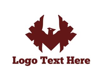 Vulture - Red Hawk logo design