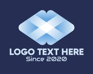Telecommuncation - 3D Letter X logo design