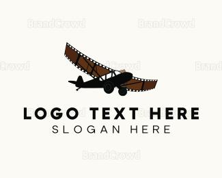 Cinematic - Film Airplane logo design